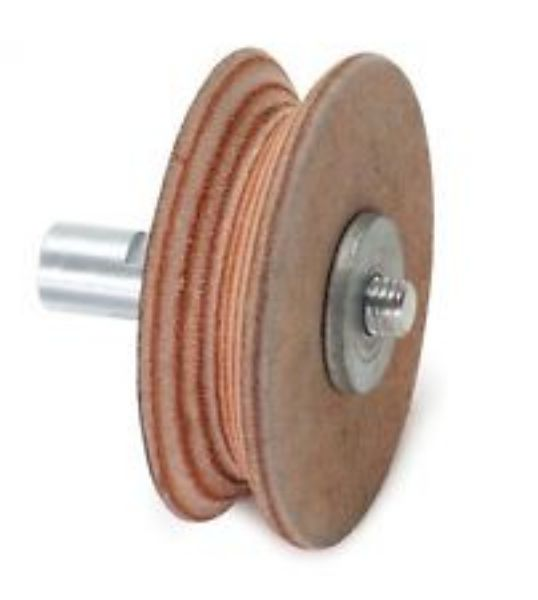 Picture of JET WET STONE SHARPENER PROFILED LEATHER HONING WHEEL