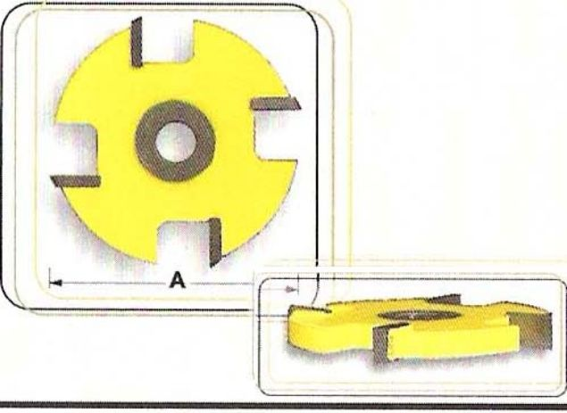"Picture of 4 WING CUTTER 2"" x 6.35MM THICK - SHANK: 1/4"""