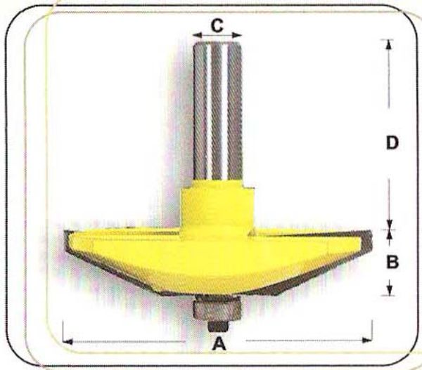 """Picture of 25° RAISED PANEL WITH BALL BEARING 80 DIAMETER x 20 DEEP - SHANK: 1/2"""""""