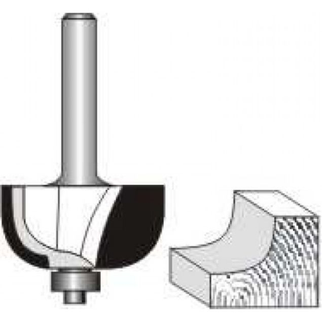 "Picture of COVE BIT 7/8"" x 1/2"" RADIUS - SHANK: 1/4"""