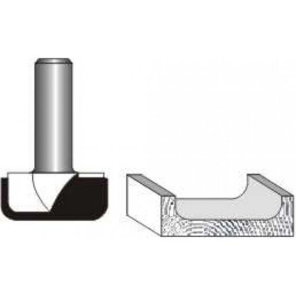 """Picture of DISH CARVING 1 1/4"""" DIAMETER x 1/4"""" RADIUS - SHANK: 1/2"""""""