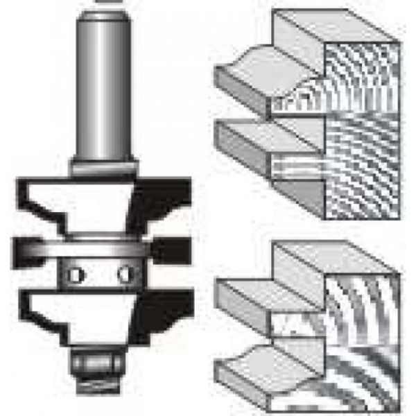 Picture of DOUBLE REVERSIBLE STYLE AND RAIL ASSEMBLY -OGEE - SHANK: 1/2""