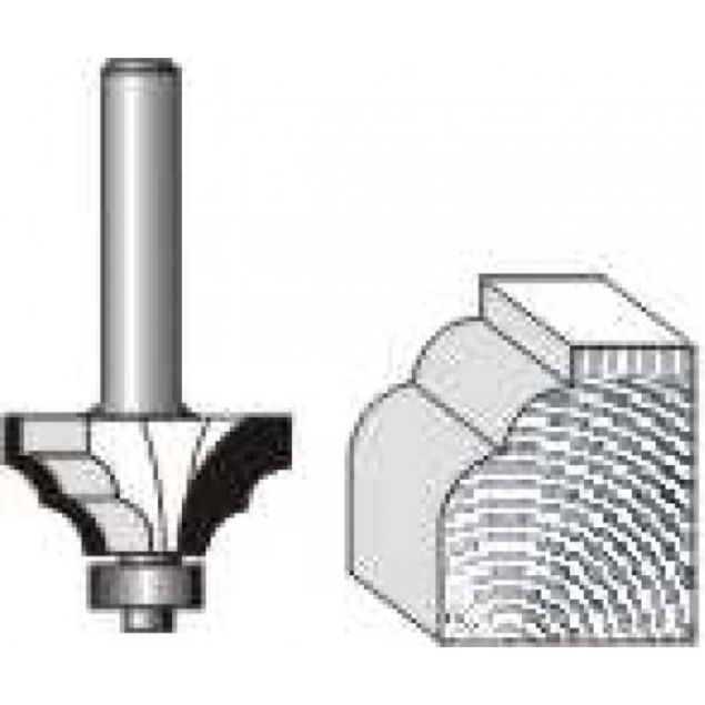 "Picture of DOUBLE ROUND-1/4"" RADIUS - SHANK: 1/2"""