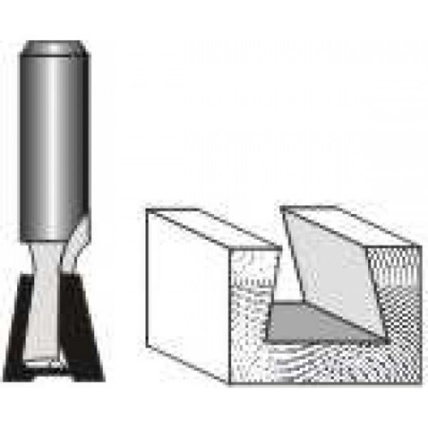 """Picture of DOVETAIL BIT 1/2""""WIDE x 1/2"""" HIGH - SHANK: 1/4"""""""