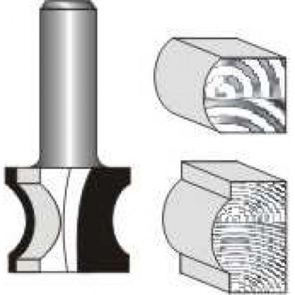 """Picture of EXTERNAL BULL NOSE 1"""" DIAMETER x 1"""" HIGH - SHANK: 1/2"""""""