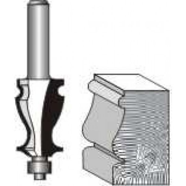 """Picture of FACE MOULD 1 1/8 """" DIAMETER x 1 5/8"""" HIGH WITH BALL BEARING - SHANK: 1/2"""""""