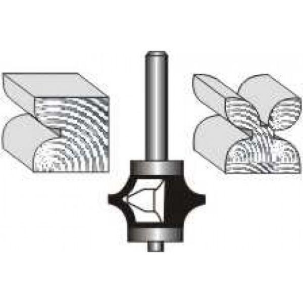 "Picture of FULL BEAD 1"" DIAMETER x 1/2"" HIGH -SHANK : 1/4"""