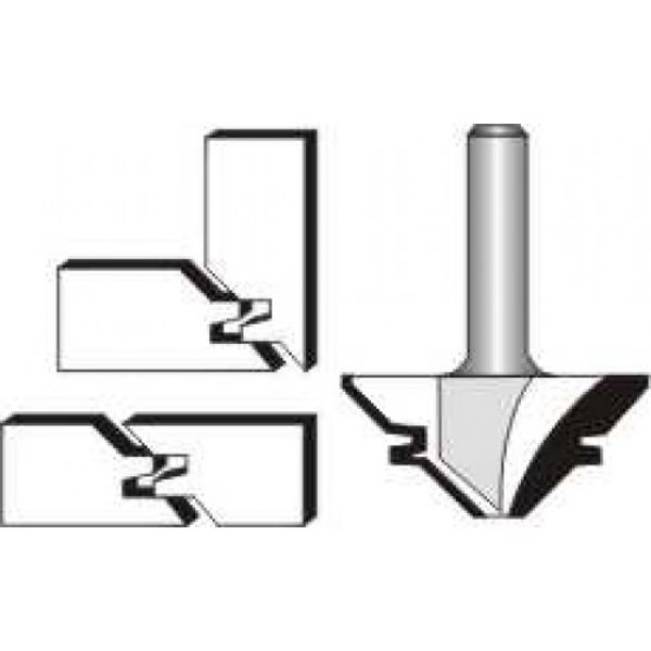 """Picture of LOCK MITRE 1 1/2"""" x 1/2 x """" 45 DEGREE - SHANK: 1/4"""""""