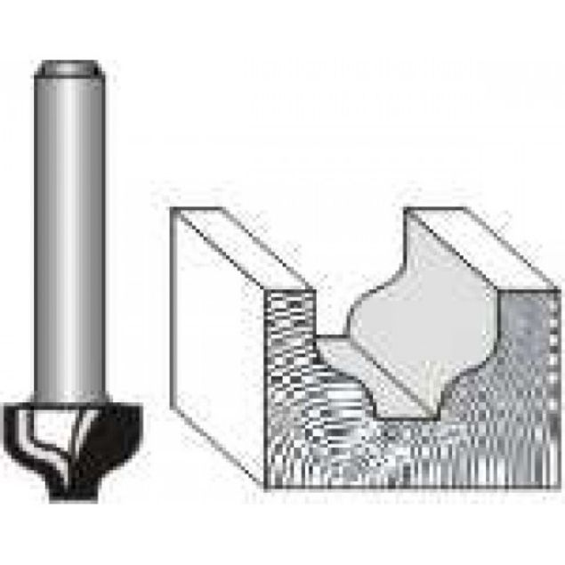 "Picture of OGEE PLUNGE CUTTING 1/2""wide x 3/8 "" DEEP - SHANK: 1/4"""
