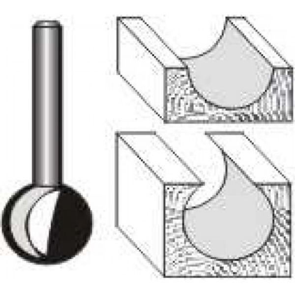 """Picture of PLUNGE CUTTING BALL 1/2""""DIAMETER -SHANK: 1/4"""""""