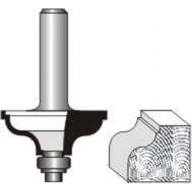 "Picture of QUIRK TOPPED OGEE 1/4""RADIUS - SHANK: 1/4"""
