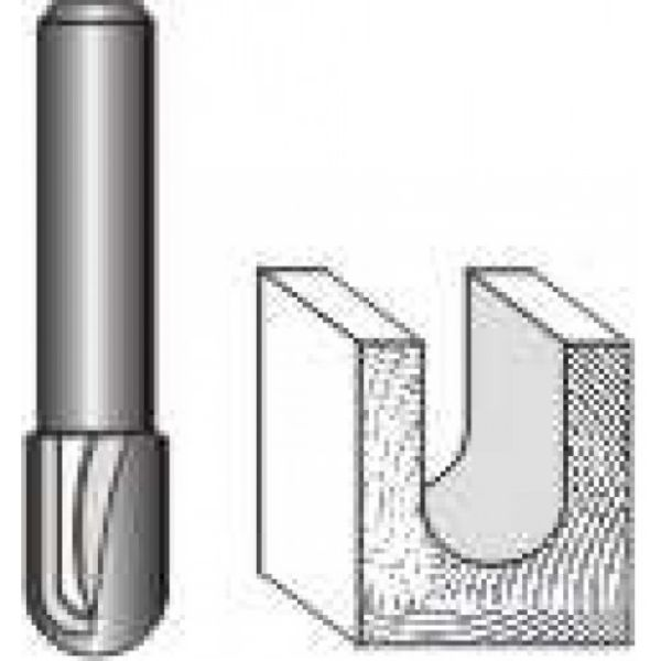 """Picture of ROUND NOSE VEINING - 1 FLUTE 1/8"""" WIDE x 5/16"""" HIGH - SHANK: 1/4"""""""