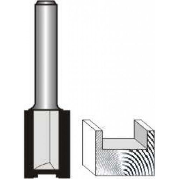 "Picture of STRAIGHT BIT - 2 FLUTE METRIC 8MM DIAMETER x 24MM LONG- SHANK: 1/4"""