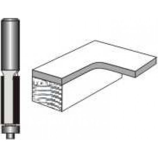 """Picture of TRIM BIT 1/4""""DIAMETER x 3/4"""" HIGH WITH BALL BEARING - SHANK: 1/4"""""""