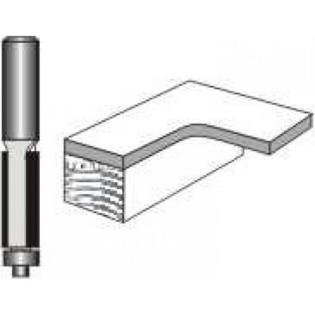"Picture of TRIM BIT 1/2"" DIAMETER X 2 LONG WITH BALL BEARING - SHANK: 1/2"""