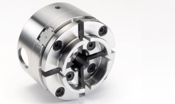 """Picture of RECORD CHUCK 61062 PACKAGE - SC3 CHUCK 1"""" X 8 THREAD, 50MM JAW, WOODSCREW & 2"""" FACEPLATE"""