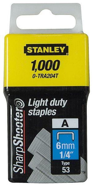 STANLEY 6MM LIGHT DUTY STAPLES 1000 SOUTH AFRICA