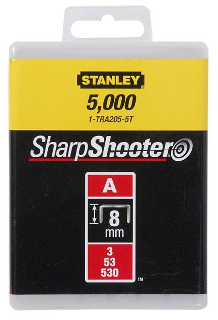 Picture of STANLEY 8MM TYPE A LIGHT DUTY STAPLES