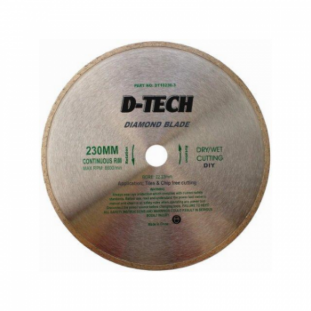 Picture of TORK CRAFT 230MM  D-TECH CONTINUOUS RIM DIAMOND BLADE