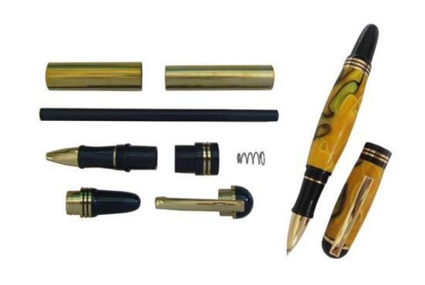 Picture of TOOLMATE CHURCHILL ROLLERBALL GOLD PEN KIT
