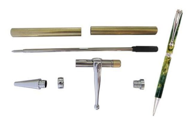 Picture of TOOLMATE FANCY SLIMLINE CHROME PEN KIT