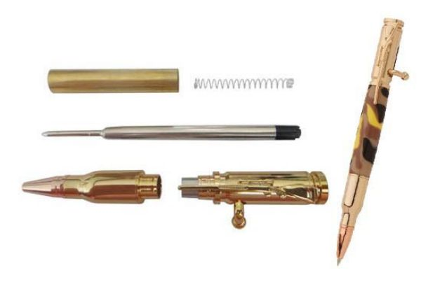 Picture of TOOLMATE RIFLE BOLT ACTION GOLD PEN KIT
