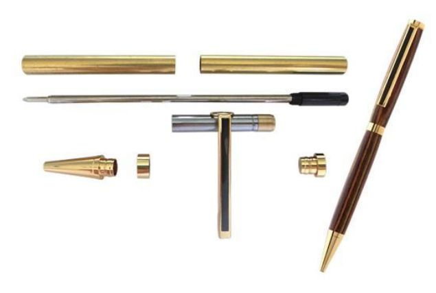 Picture of TOOLMATE SLIMLINE GOLD PEN KIT (BLACK STRIPE)
