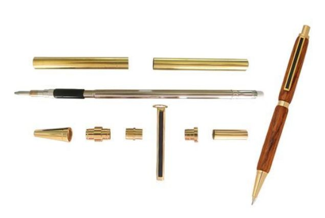 Picture of TOOLMATE SLIMLINE GOLD PENCIL KIT (BLACK STRIPE)