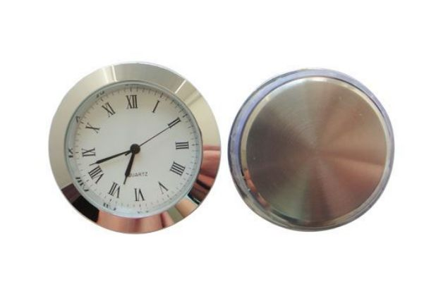 Picture of TOOLMATE CLOCK INSERT 50MM SILVER (HOLE SIZE 46.4MM X 6MM DEEP)