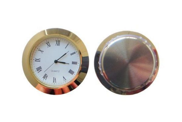 Picture of TOOLMATE CLOCK INSERT 60MM GOLD (HOLE SIZE 50.4 X 6MM DEEP)