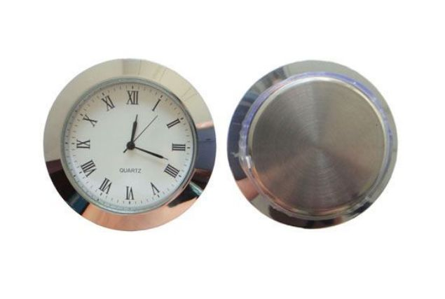Picture of TOOLMATE 60MM SILVER CLOCK INSERT  (HOLE SIZE 50.4 X 6MM DEEP)