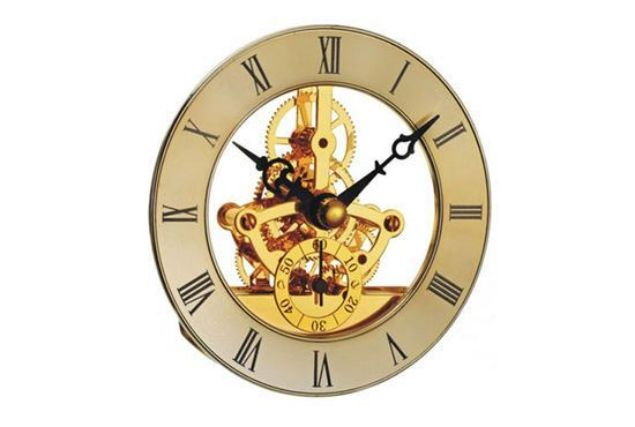 Picture of TOOLMATE SKELETON GOLD CLOCK MINI 85MM