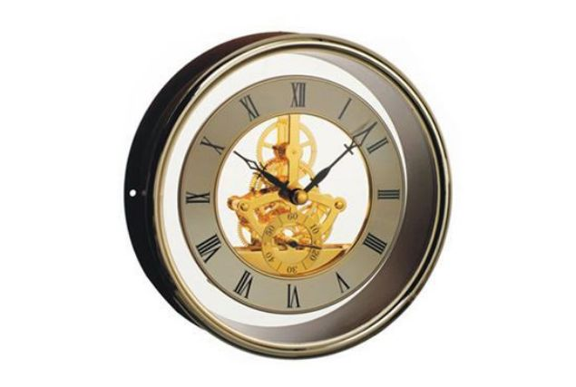 Picture of TOOLMATE SKELETON GOLD CLOCK 155MM DIAL