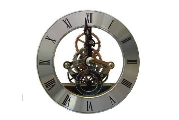 Picture of TOOLMATE SKELETON SILVER CLOCK 85MM