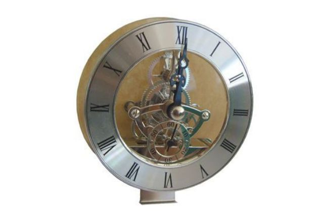 Picture of TOOLMATE SKELETON SILVER CLOCK MINI 85MM