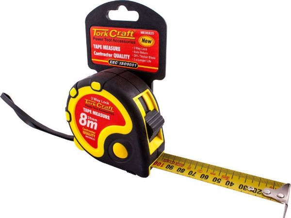 MEASURING TAPE 8M X 22MM RUBBER SOUTH AFRICA