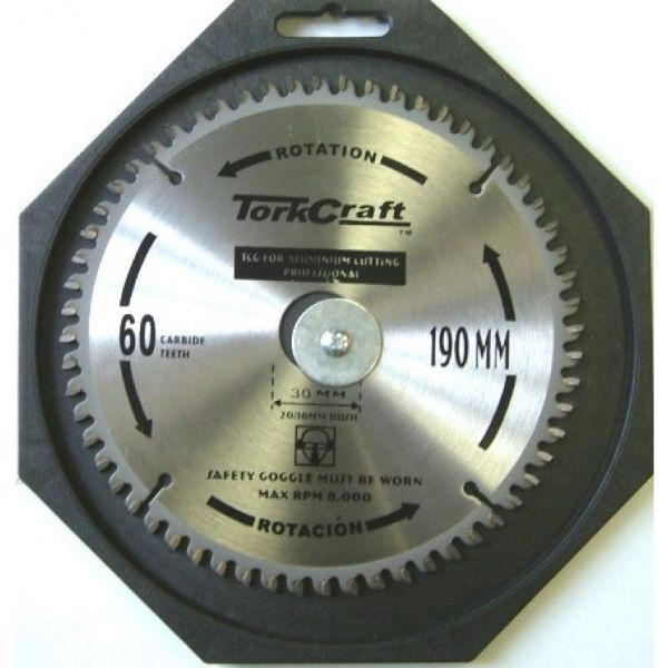 TORK CRAFT BLADE CONTRACTOR ALUM TCP190GOAL 190 X 60T SOUTH AFRICA