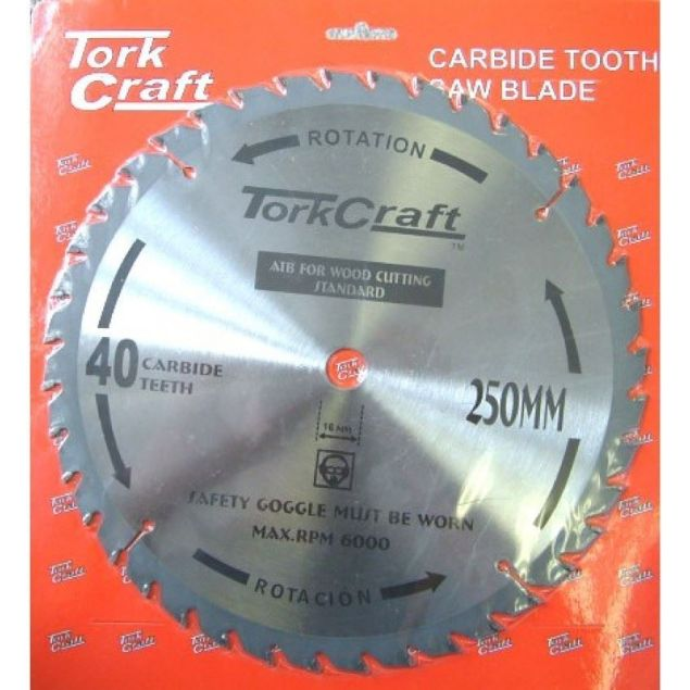 TORK CRAFT BLADE GENERAL PURPOSE 250 X 16MM X 40T SOUTH AFRICA