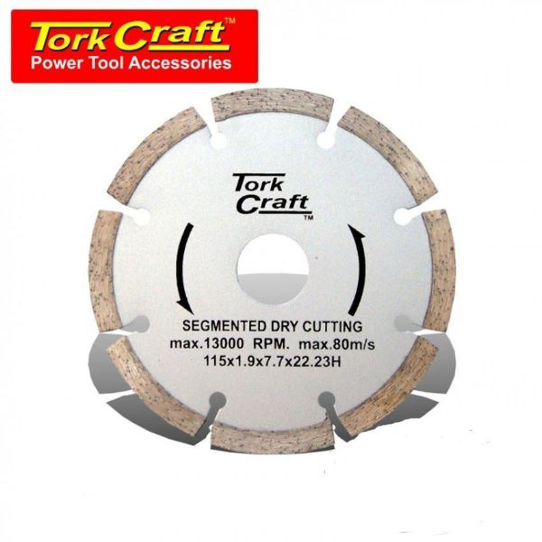 TORK CRAFT BLADE SEGMENTED DIAMOND 115MM SOUTH AFRICA