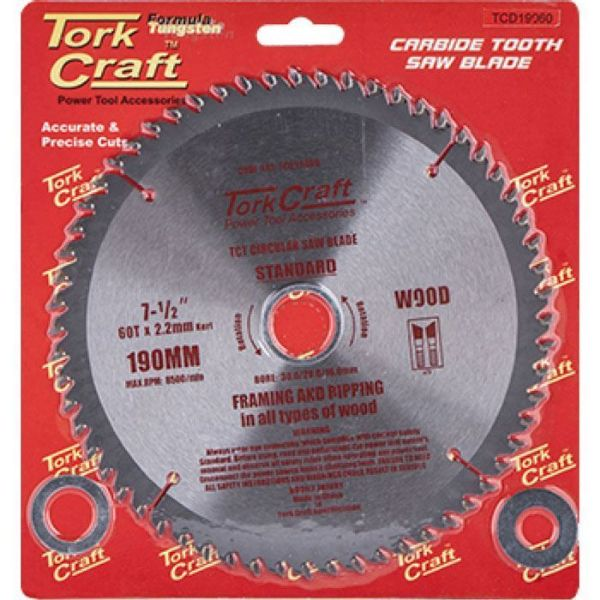 TORK CRAFT BLADE TRACT GENERAL PURPOSE 190 X 60T SOUTH AFRICA