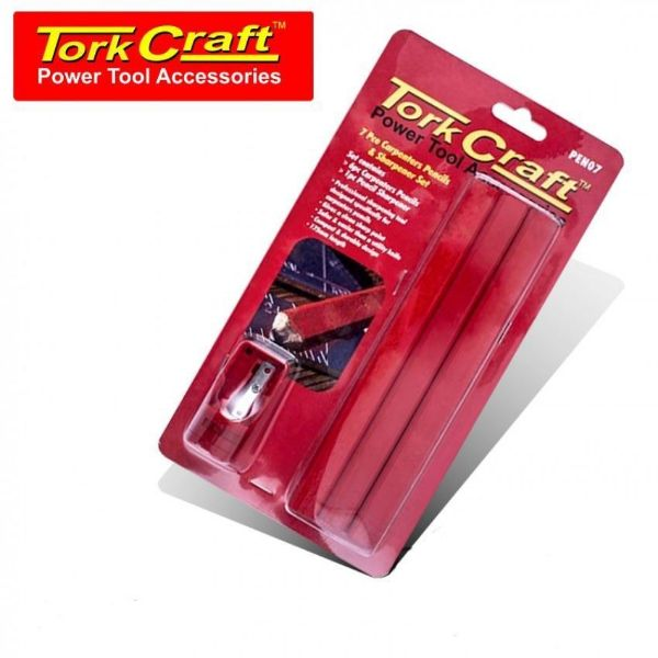 Picture of TORK CRAFT CARPENTERS PENCIL SET 6+SHARPENER
