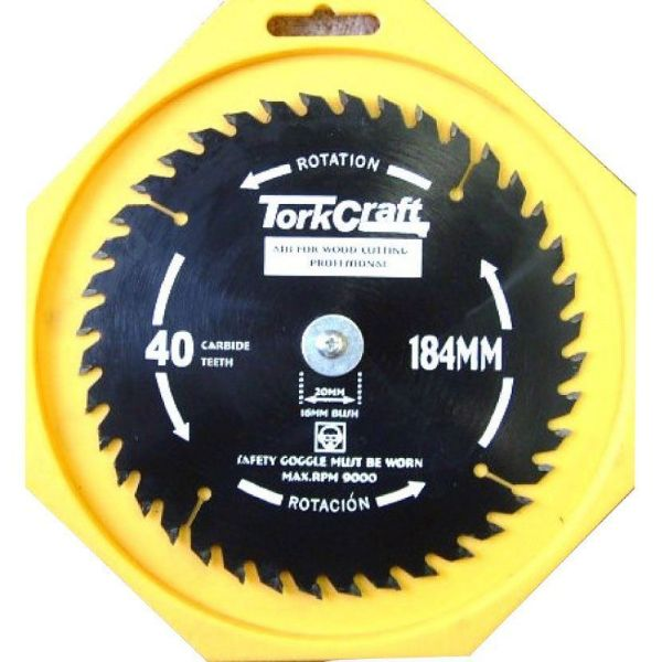 TORK CRAFT BLADE THIN KERF 184 X 40T SOUTH AFRICA