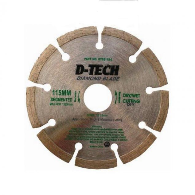 Picture of TORK CRAFT 115MM D-TECH SEGMENTED RIM DIAMOND BLADE