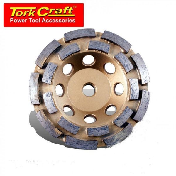 TORK CRAFT DIA CUP WHL DBL ROW LASER WELDED 115MMXM14 SOUTH AFRICA
