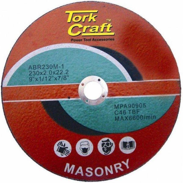 TORK CRAFT DISC CUTTING MASONRY 230 X 2 X 22.2MM SOUTH AFRICA