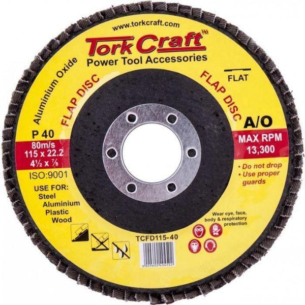 TORK CRAFT DISC SANDING FLAP 115MM P40 SOUTH AFRICA