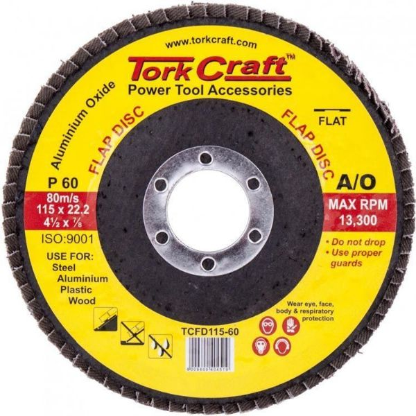 TORK CRAFT DISC SANDING FLAP 115MM P60 SOUTH AFRICA