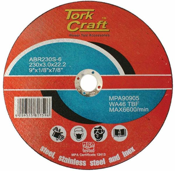 TORK CRAFT DISC CUT OFF FOR STEEL 230 3 X 22MM SOUTH AFRICA
