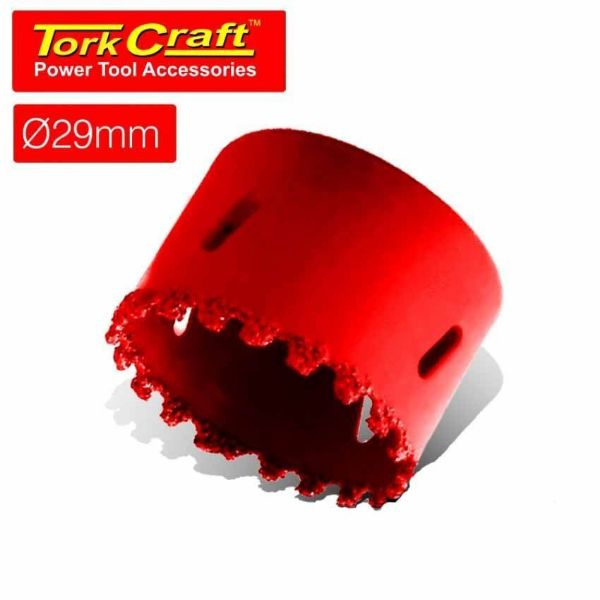 TORK CRAFT 29MM HOLE SAW CARBIDE GRIT RED SOUTH AFRICA