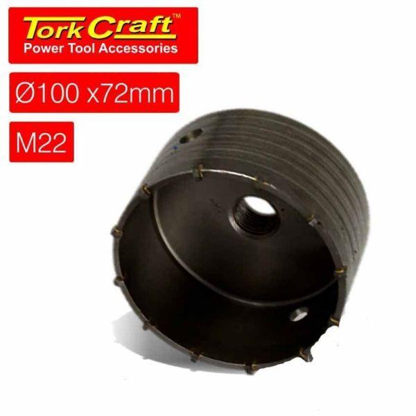 TORK CRAFT 100 X 72 M22 HOLLOW CORE BIT SOUTH AFRICA